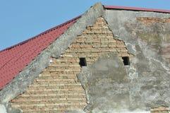 Detalhe deteriorado da casa imagens de stock royalty free