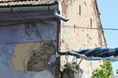Detalhe deteriorado da casa imagem de stock