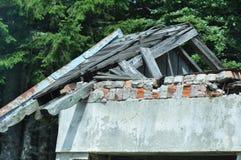 Detalhe deteriorado da casa fotos de stock