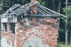 Detalhe deteriorado da casa fotografia de stock royalty free