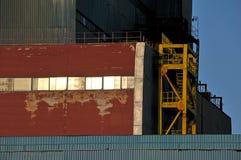 Detalhe do arhitecture da fábrica Fotos de Stock