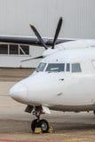 Detalhe do avião de transporte da hélice Foto de Stock