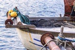 Detalhe do barco de pesca Fotos de Stock Royalty Free
