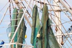 Detalhe do barco do camarão Fotos de Stock Royalty Free