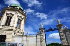 Detalhe do Belvedere Palace.Vienna imagens de stock