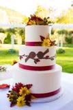 Detalhe do bolo de casamento Imagens de Stock
