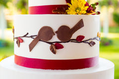 Detalhe do bolo de casamento Imagens de Stock Royalty Free