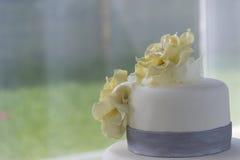 Detalhe do bolo de casamento fotos de stock