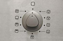 Detalhe do botão do forno Fotografia de Stock Royalty Free