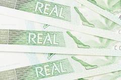 Detalhe do brasileiro 1 real Foto de Stock Royalty Free