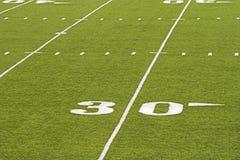 Detalhe do campo de futebol americano Imagem de Stock