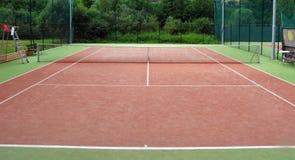 Detalhe do campo de tênis Imagens de Stock