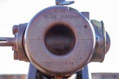 Detalhe 1876 do canhão de Krupp imagens de stock royalty free