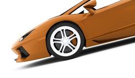 Detalhe do carro de corridas rendido no fundo branco ilustração do vetor