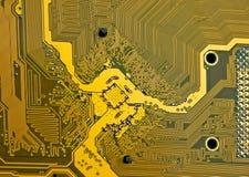 Detalhe do cartão-matriz do circuito eletrônico Fotografia de Stock