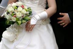 Detalhe do casamento - anéis Imagens de Stock Royalty Free