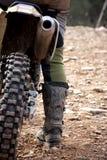 Detalhe do cavaleiro do motocross Fotografia de Stock