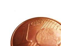 Detalhe do centavo de Euro Fotos de Stock