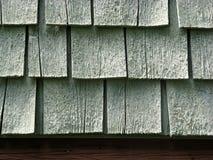 Detalhe do Close-up das telhas de madeira Foto de Stock Royalty Free