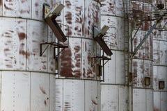 Detalhe do close-up de escaninhos velhos da grão Fotografia de Stock
