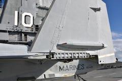 Detalhe do close up de um jato militar imagens de stock