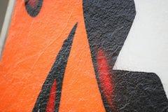 Detalhe do close up dos grafittis Fotografia de Stock Royalty Free