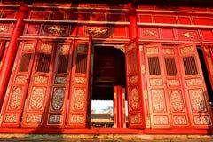 Detalhe do corredor Cidade imperial Hué vietnam foto de stock royalty free