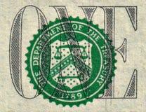 Detalhe do dólar Imagens de Stock Royalty Free