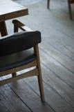 Detalhe do design de interiores de mobília de madeira retro Foto de Stock Royalty Free