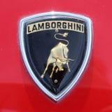 Detalhe do emblema de Lamborgini Bull fotos de stock