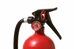 Detalhe do extintor de incêndio fotos de stock
