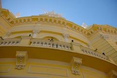 Detalhe do fachada dos gomes de Theatro Carlos Foto de Stock Royalty Free