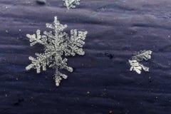 Detalhe do floco de neve foto de stock