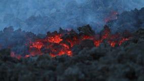 Detalhe do fluxo de lava filme