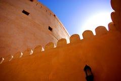 Detalhe do forte de Nizwa Imagens de Stock