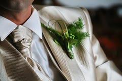 detalhe do groom& x27; traje de s fotos de stock