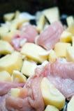 Detalhe do guisado de galinha Imagens de Stock