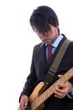 Detalhe do guitarrista Imagem de Stock Royalty Free