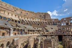 Detalhe do interior do amphiteater de Roman Colosseum em Roma Fotos de Stock Royalty Free
