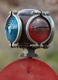 Detalhe do interruptor da estrada de ferro Imagens de Stock