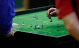 Detalhe do jogo de campeonato mundial do futebol da tabela imagem de stock