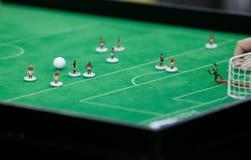 Detalhe do jogo de campeonato mundial do futebol da tabela imagens de stock