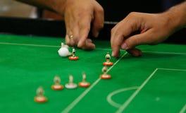 Detalhe do jogo de campeonato mundial do futebol da tabela foto de stock