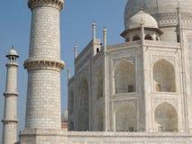 Detalhe do mármore branco de Taj Mahal Imagem de Stock