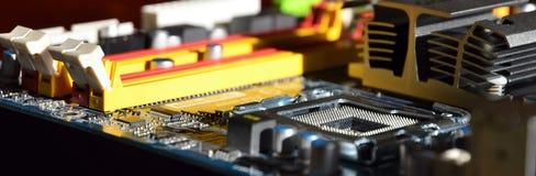 Detalhe do mainboard do computador imagem de stock