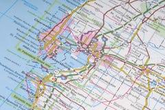 Detalhe do mapa de Florida imagem de stock