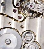 Detalhe do maquinismo de relojoaria Imagens de Stock Royalty Free