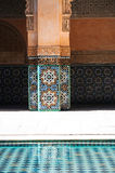 Detalhe do medursa de ben Youssef, c4marraquexe Foto de Stock Royalty Free