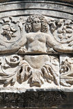 Detalhe do Medusa de templo de Hadrian, Ephesus Fotografia de Stock