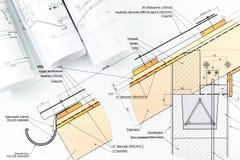 Detalhe do modelo da arquitetura fotos de stock